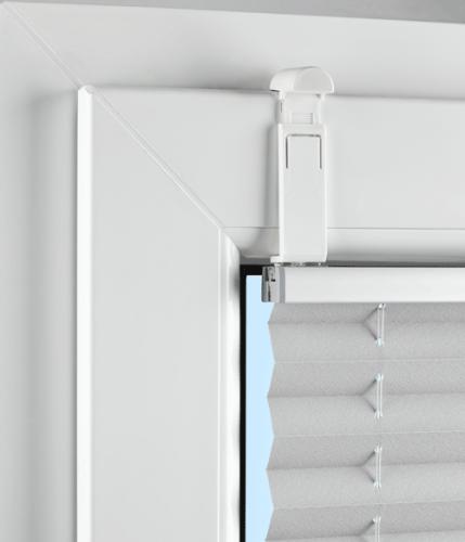 falzfix klemmtr ger f r die montage von plissees in der glasleiste ohne bohren 4 st ck z. Black Bedroom Furniture Sets. Home Design Ideas