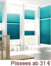 Cosiflor® Plissee ab 31 EUR | Konfigurator - Perfekter-Sonnenschutz.de